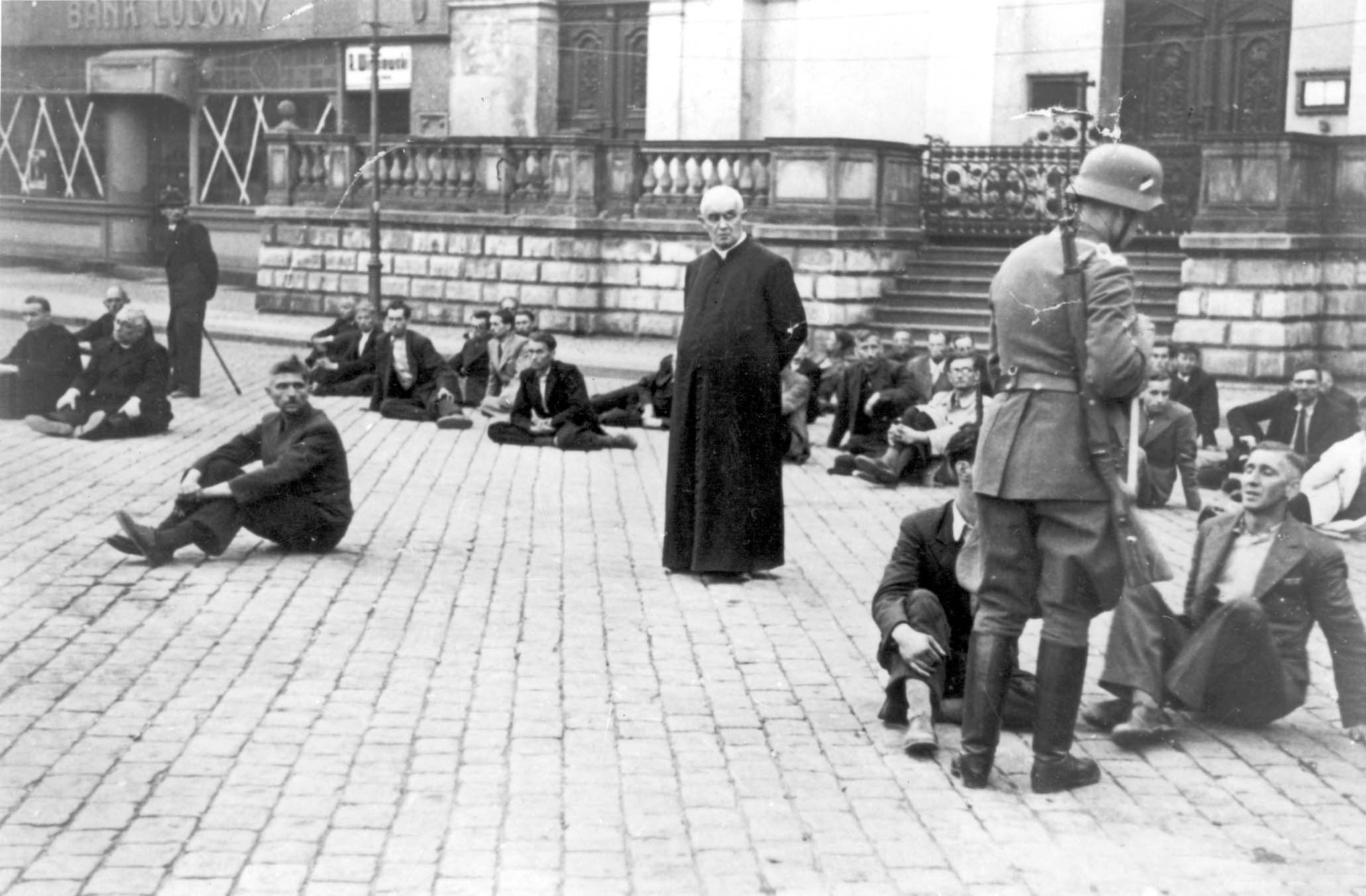 Polish Priest as a German Hostage 1939